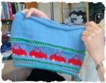 Merles car sweater is growing!