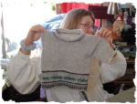 Sarah – The truck sweater is almostdone!