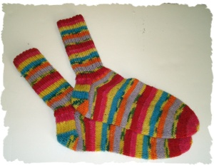 The socks - yeah they are done!