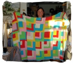 Laura and the blanket for herdaughter