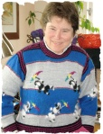 Front of poodlesweater