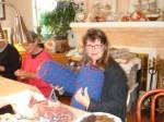 5 Debbie is knittingpillows!