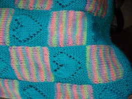The detail of the blanket Terry knit!