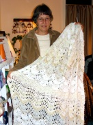 Margaret and her afghan