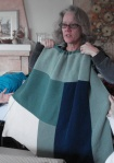 Susanne and the adult Moderne Blanket