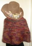 The Round Shawl knit in Noro's SilkGarden