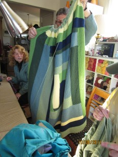 Marsha showing another glimpse at her latest afghan