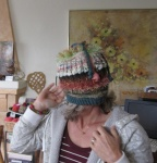 Susanne in teapotcosy!