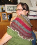 Terry's version of Summer Flies Shawl