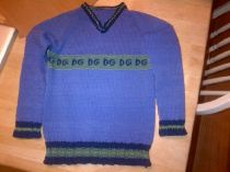 The finished top-down sweater