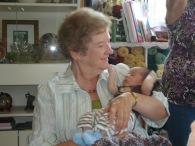 Natasha's mother with new grandson! A blessing!