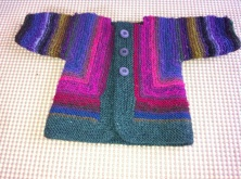 "Baby Surprise ""folded/molded"" into sweater!"
