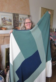 Susanne and her gift of love - Moderne Blanket for her son and wife!
