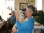 """Jean """"loving"""" my pup Lucy March2009"""