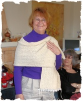 "Silky Wool Scarf - a ""heart felt"" for friend with cancer"