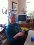 1 – Jean…of course wearing one of her wonderfulknits!