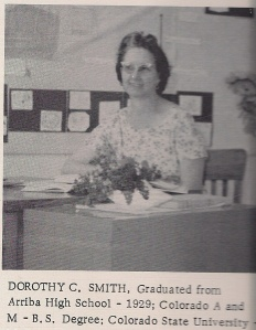 Dorothy Smith - photo from early 60's yearbook.