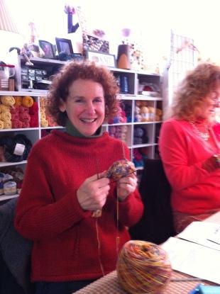 Shari - sock knitting