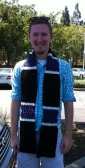 Nephew modeling his college bound scarf