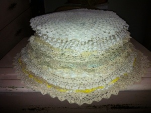 "A ""pancake"" of crochet"