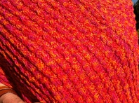 Detail of Marsha's poncho/shawl