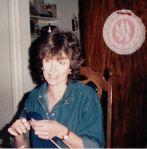 Carolyn knitting forJeff
