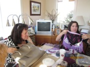 Kimberly and Bonnie Let's knit and play!