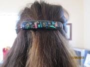 Kimberly's glass hair clasp