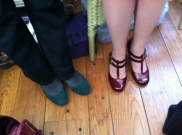 Party Shoes...on our way to lunch