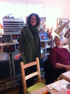 Karen wore her wonderful knit piece...a design from Slicer-Smith