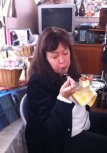 Kimberly loves the Cheesecake