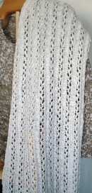 Linen wash cloth stole